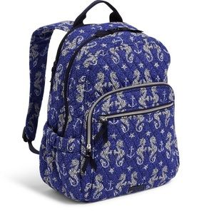 Vera Bradley Campus Backpack in Seahorse of Course